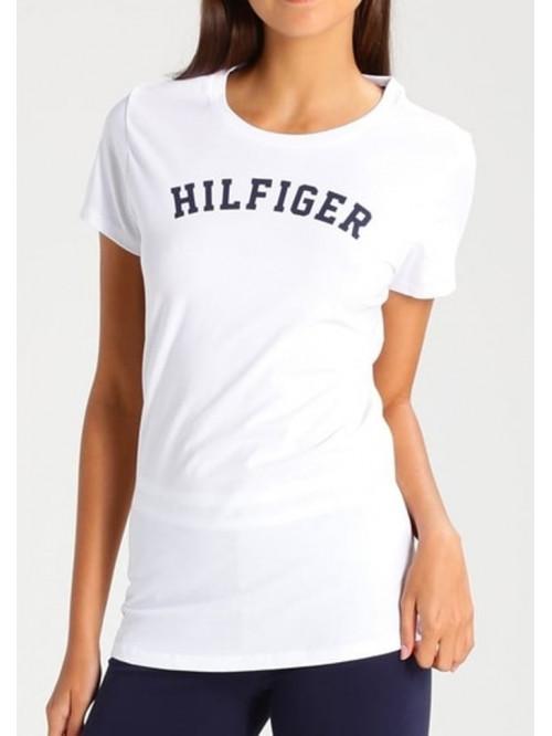 Női póló Tommy Hilfiger SS TEE PRINT fehér