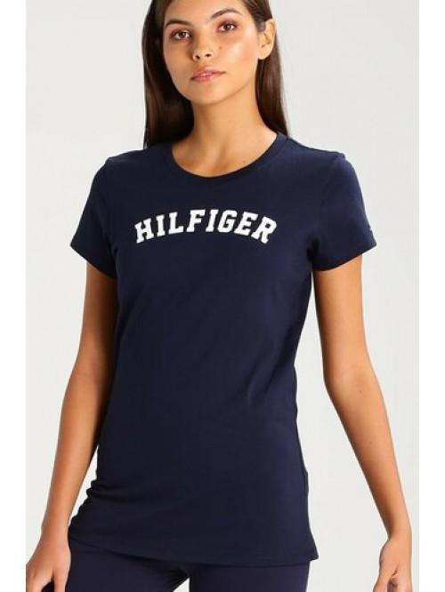 Női póló Tommy Hilfiger SS TEE PRINT navy kék