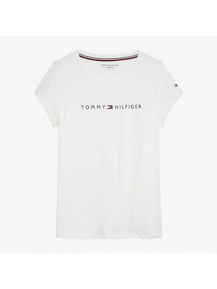 Női póló Tommy Hilfiger RN TEE SS LOGO fehér