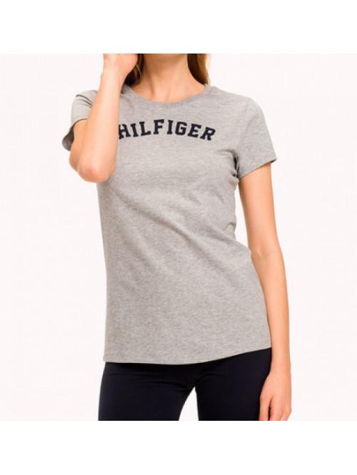 Női póló  Tommy Hilfiger SS TEE PRINT szürke