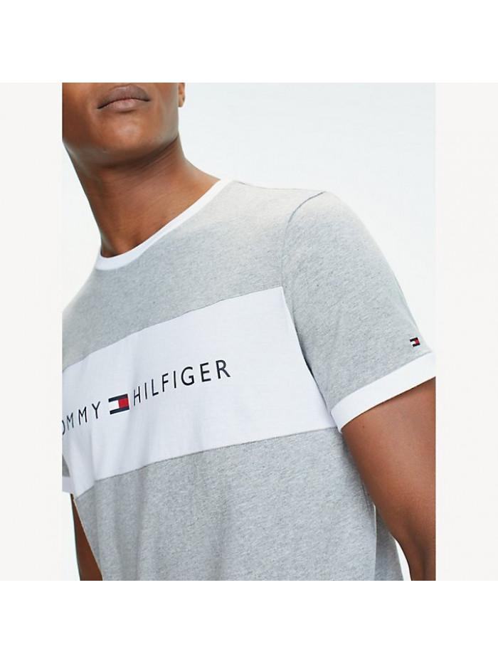 Férfi póló Tommy Hilfiger Tee Logo Flag szürke