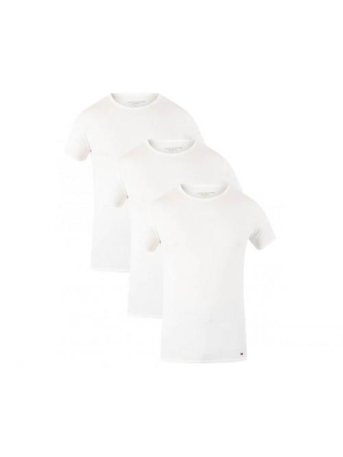 Férfi póló Tommy Hilfiger C-Neck Tee SS fehér 3-pack