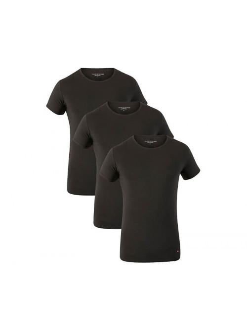 Férfi pólók Tommy Hilfiger C-Neck Tee SS fekete 3-pack