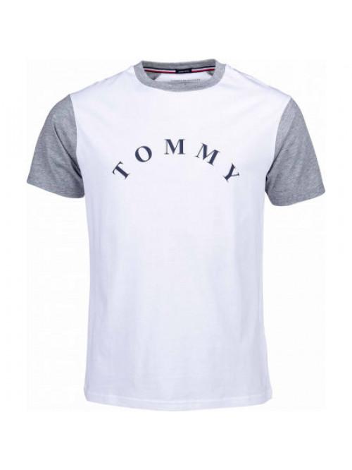 Férfi póló Tommy Hilfiger CN SS Tee Logo fehér