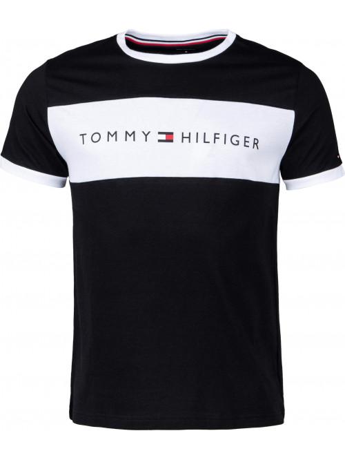 Férfi póló Tommy Hilfiger Tee Logo Flag fekete
