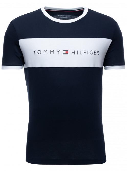 Férfi póló Tommy Hilfiger Tee Logo Flag kék