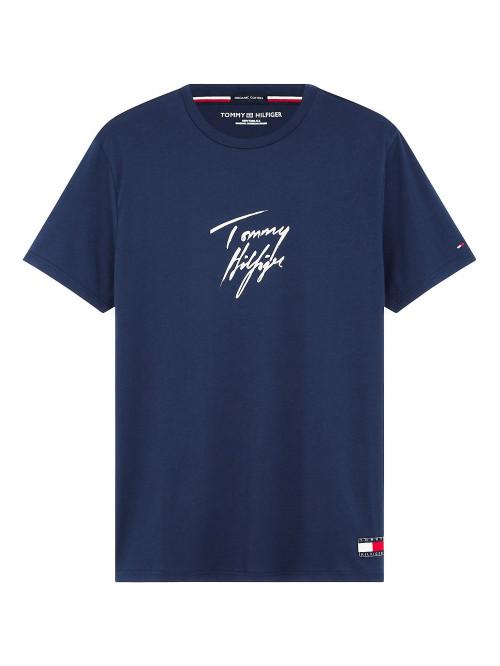 Férfi póló Tommy Hilfiger Signature Logo kék