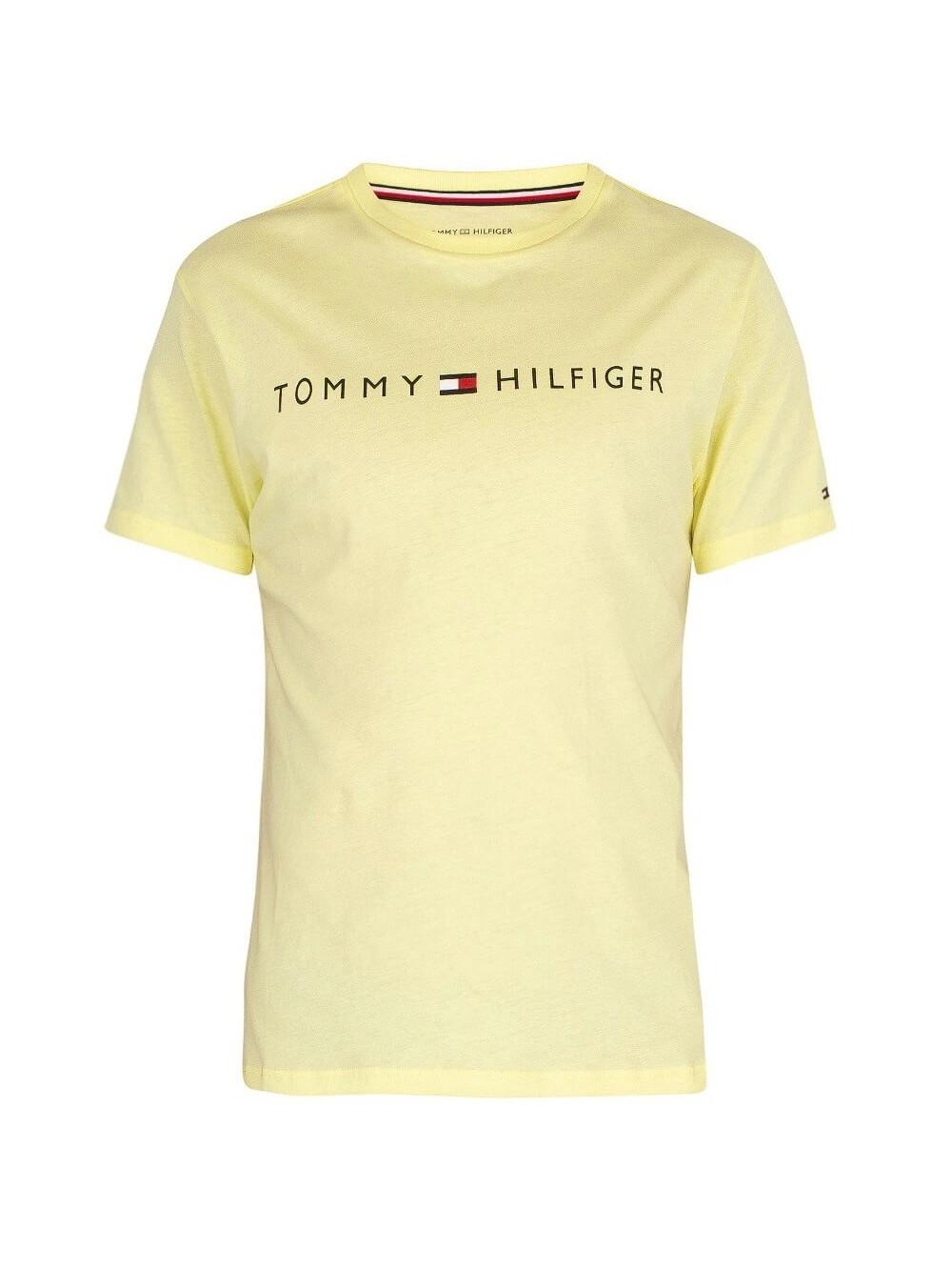 Férfi póló Tommy Hilfiger Crew Neck Tee Logo sárga