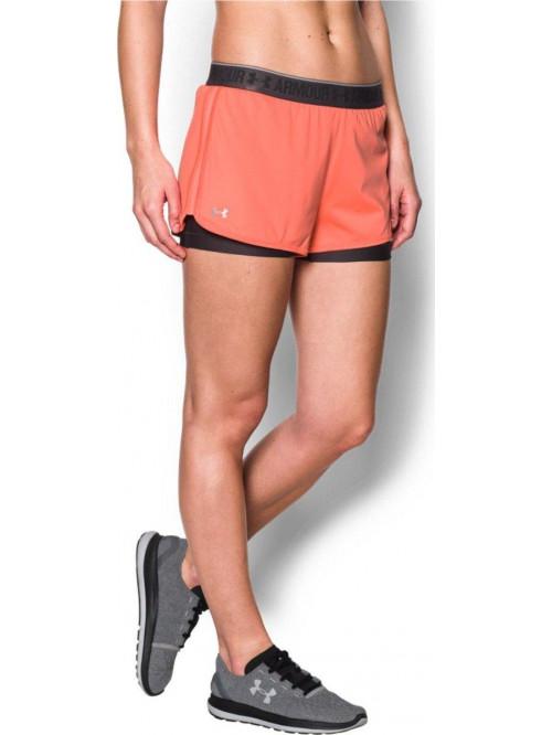 Női rövidnadrág Under Armour HG 2 v 1 narancssárga