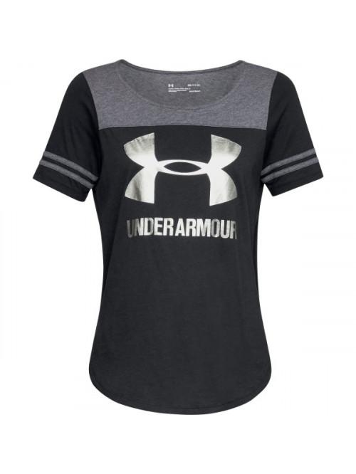 Női póló Under Armour Sportstyle Baseball fekete