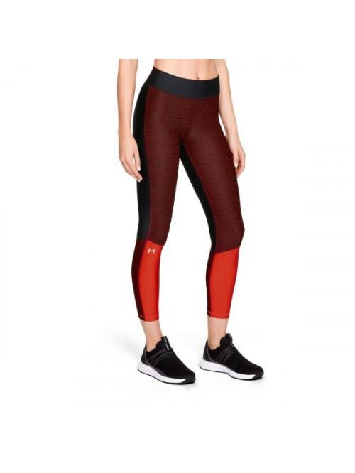 Női 3/4-es kompressziós leggings Under Armour Ankle Crop Jac fekete-piros