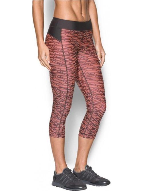 Női 3/4-es kompressziós leggings Under Armour Printed narancs-fekete színben