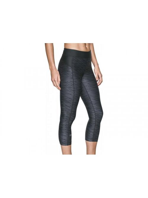 Női kompressziós 3/4-es leggings Under Armour Printed szürkés-fekete