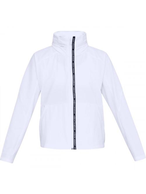 Női kabát Under Armour Unstoppable Woven FZ fehér