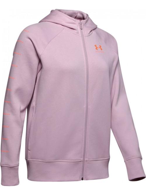 Női melegítő felső Under Armour Tech Hoody rózsaszín