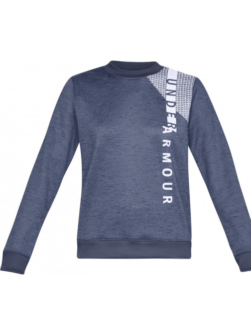 Női pulóver Under Armour Synthetic Fleece Crew WM-BLU Blue kék