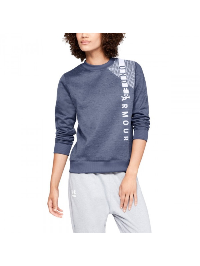 Női pulóver Under Armour Synthetic Fleece Crew WM-BLU Blue kék