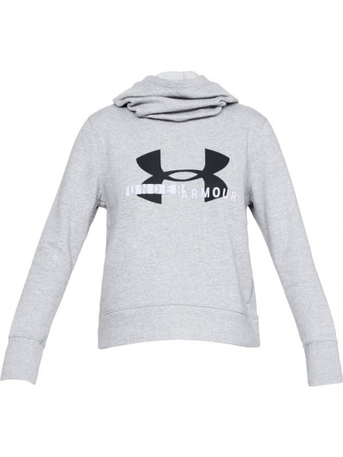 Női pulóver Under Armour Cotton Fleece Sportstyle Logo Hoodie szürke