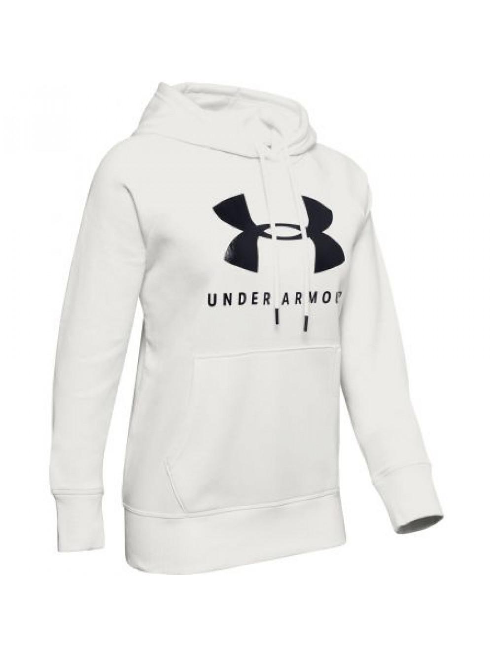 Női pulóver Under Armour Rival Fleece Sportstyle Graphic Hoodie fehér