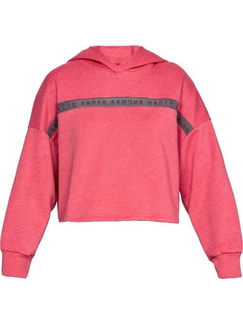 Női melegítő felső Under Armour Taped Fleece Hoodie rózsaszín