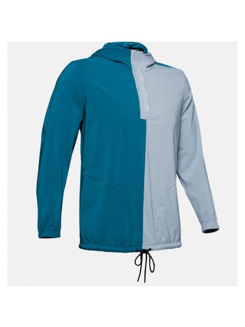 Férfi kabát Under Armour Baseline Woven Jacket szürke-kék