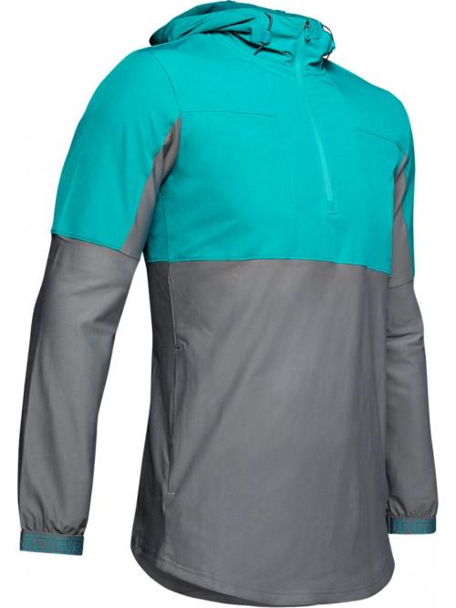 Férfi kabát Under Armour Vanish Hybrid szürke-zöld