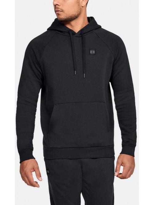 Férfi melegítő felső Rival Fleece Po Hoodie-BLK Black fekete