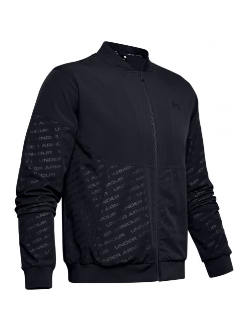 Férfi kabát Under Armour Unstoppable Emboss Bomber Wire fekete