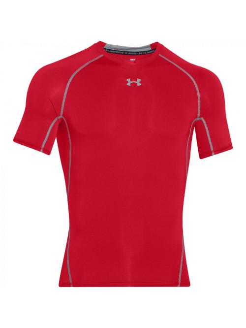 Férfi kompressziós póló Under Armour HeatGear Short Sleeve piros