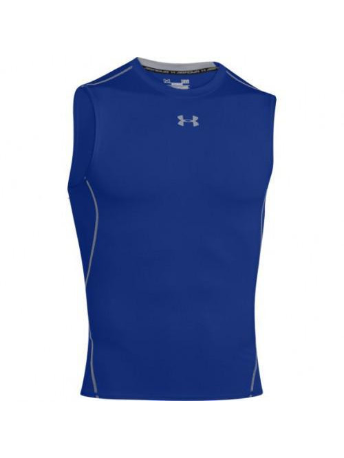 Férfi kompressziós póló Under Armour HeatGear Sleeveless kék