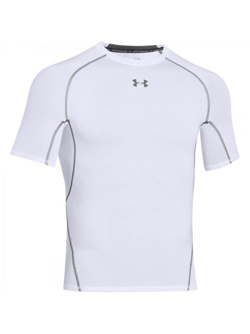 Férfi kompressziós póló Under Armour HeatGear Short Sleeve fehér