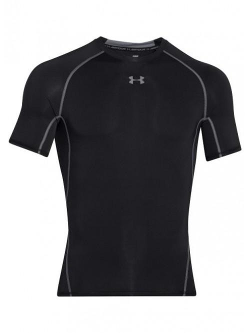 Férfi kompressziós póló Under Armour HeatGear Short Sleeve fekete