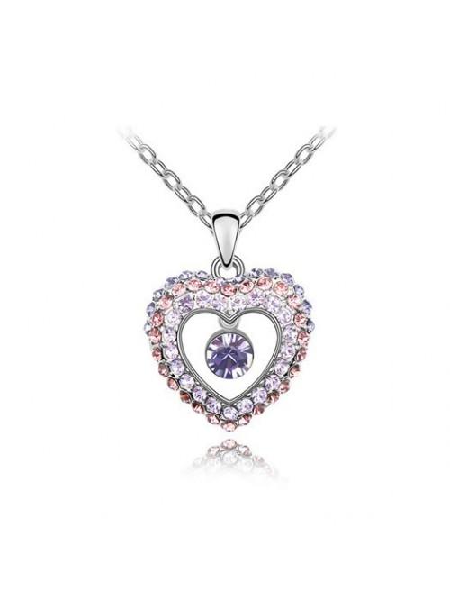 Nyaklánc Szívverés lila