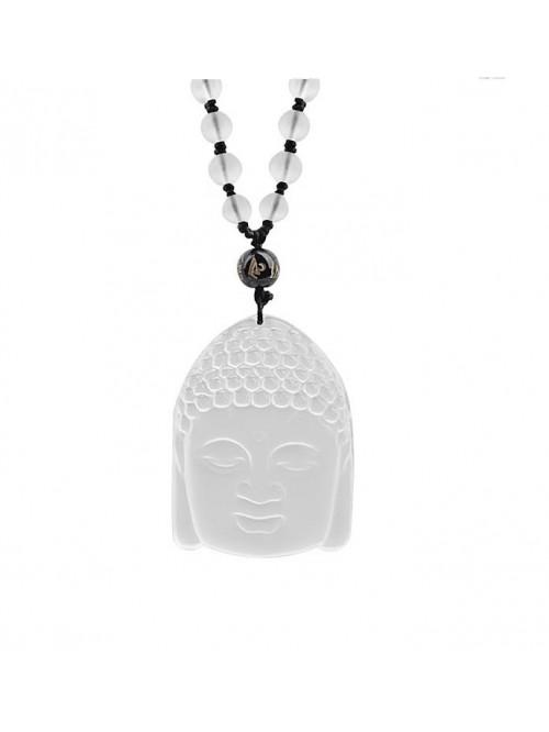 Kristály Buddha nyaklánc