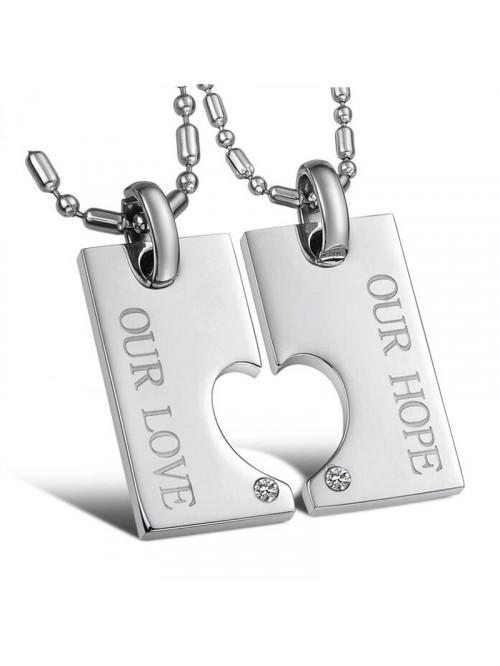 Nyaklánc pároknak Our love, Our hope