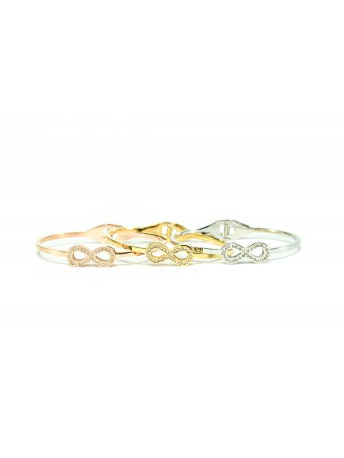 Női karkötő Végtelen mini-kristályokkal