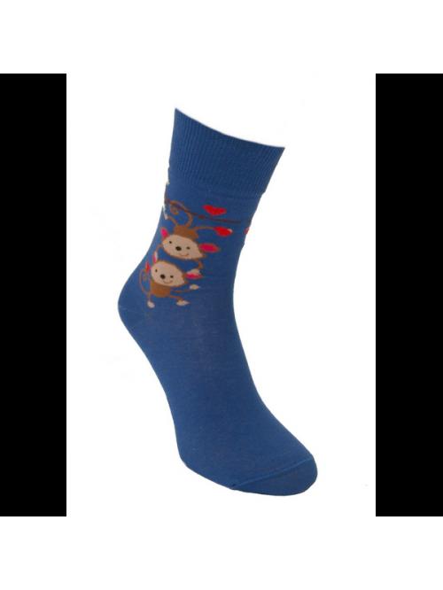 Zoknik Szerelmes Majmok Foxysoxy kék