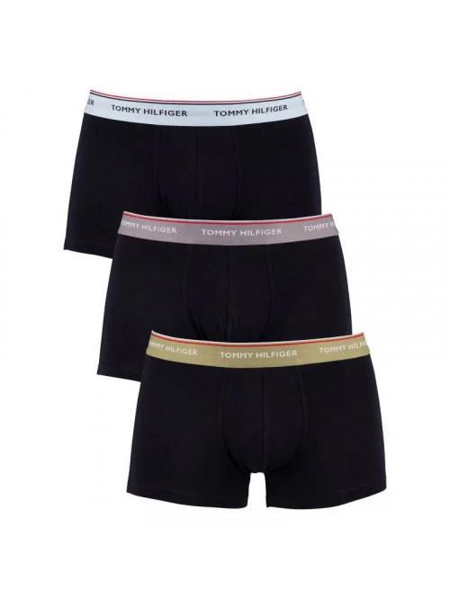 Férfi boxeralsó Tommy Hilfiger Premium Essentials sötétkék színes sávval 3-pack