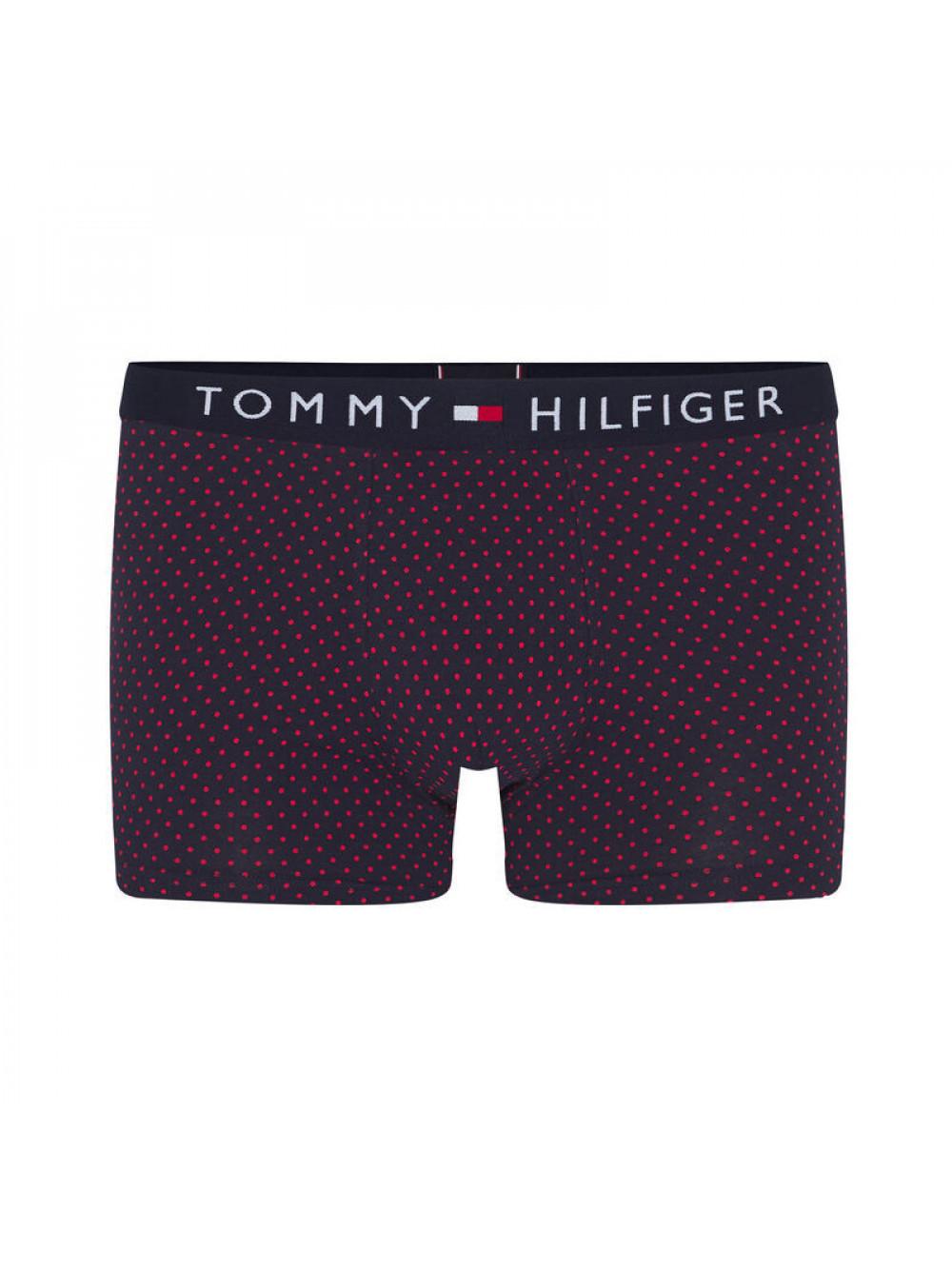 Férfi boxeralsó Tommy Hilfiger All-Over Print Cotton Trunks fekete mintás