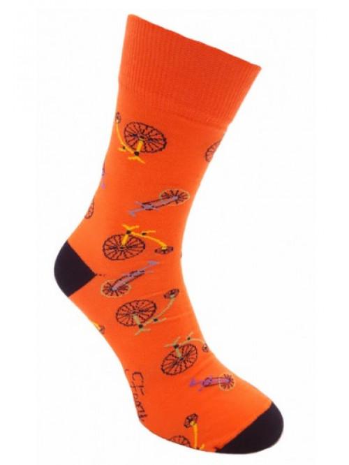 Foxysoxy zokni Bicikli narancssárga