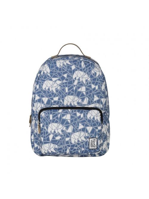 Kék hátizsák medve mintával The Pack Society