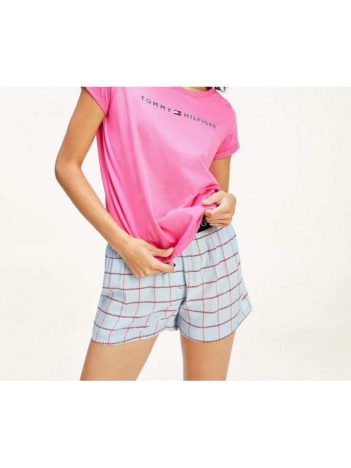 Női póló Tommy Hilfiger RN TEE SS LOGO rózsaszín