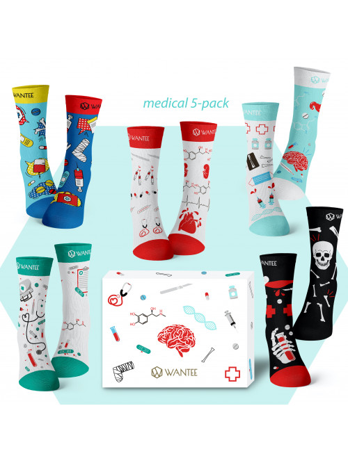 Wantee Medical Zokni 5-pack ajándékdoboz