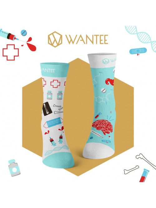Wantee Medical Blue zokni