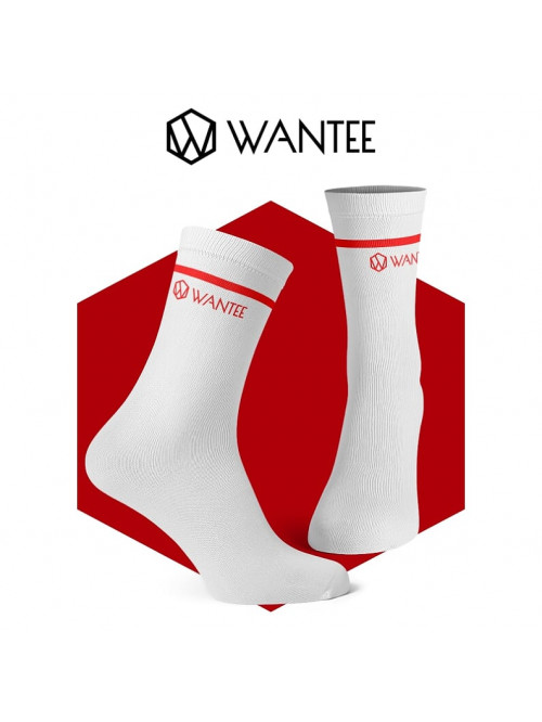 Wantee zokni Basic White and Red