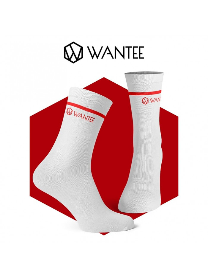 Wantee zokni Basic White and Red
